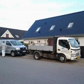 Mit hus med firma bil
