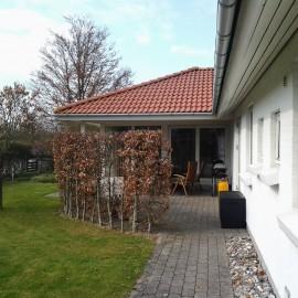Tilbygning og ny terrasse